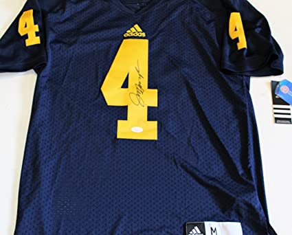 best sneakers e7b45 ca487 Jim Harbaugh Signed Michigan Wolverines Football Jersey w ...