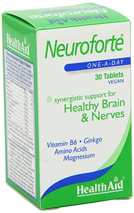 Amazon.com: Health Aid NeuroForte (Amino Acid, B Vitamin Complex) 30 Tablets: Health & Personal Care