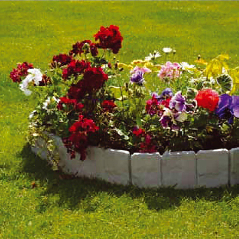 Parkland – 10 unidades de separadores de jardín de plástico con efecto de piedra gris adoquinada: Amazon.es: Jardín