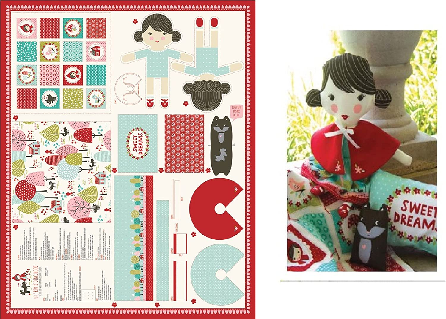 Moda /'Best Friends Forever/' Dolls//Pets//Accessories Toy Sewing Panel Cotton
