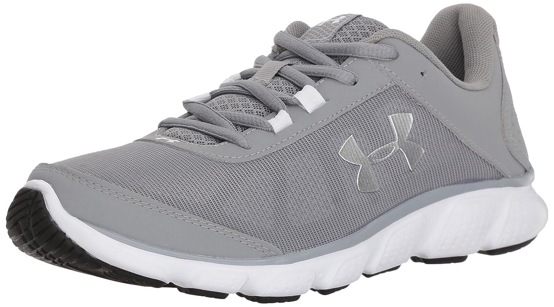 Under Armour Women's Micro G Assert 7 Sneaker, Black/White/White B071NTHZ99 10.5 M US|Steel (100)/White