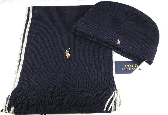 Ralph Lauren Ensemble bonnet, écharpe et gants - Homme Bleu bleu seulement fc8cfea1fb5