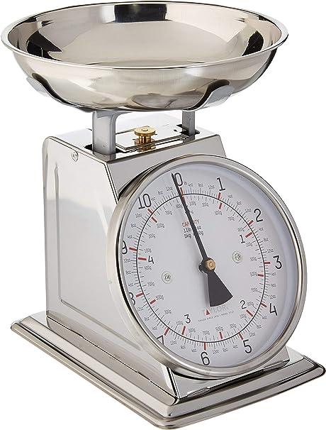METAL KITCHEN SCALEup to 3 kg plumRetro analogue cooking scale