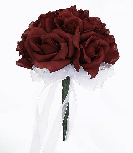 Burgundy Bridal Bouquet
