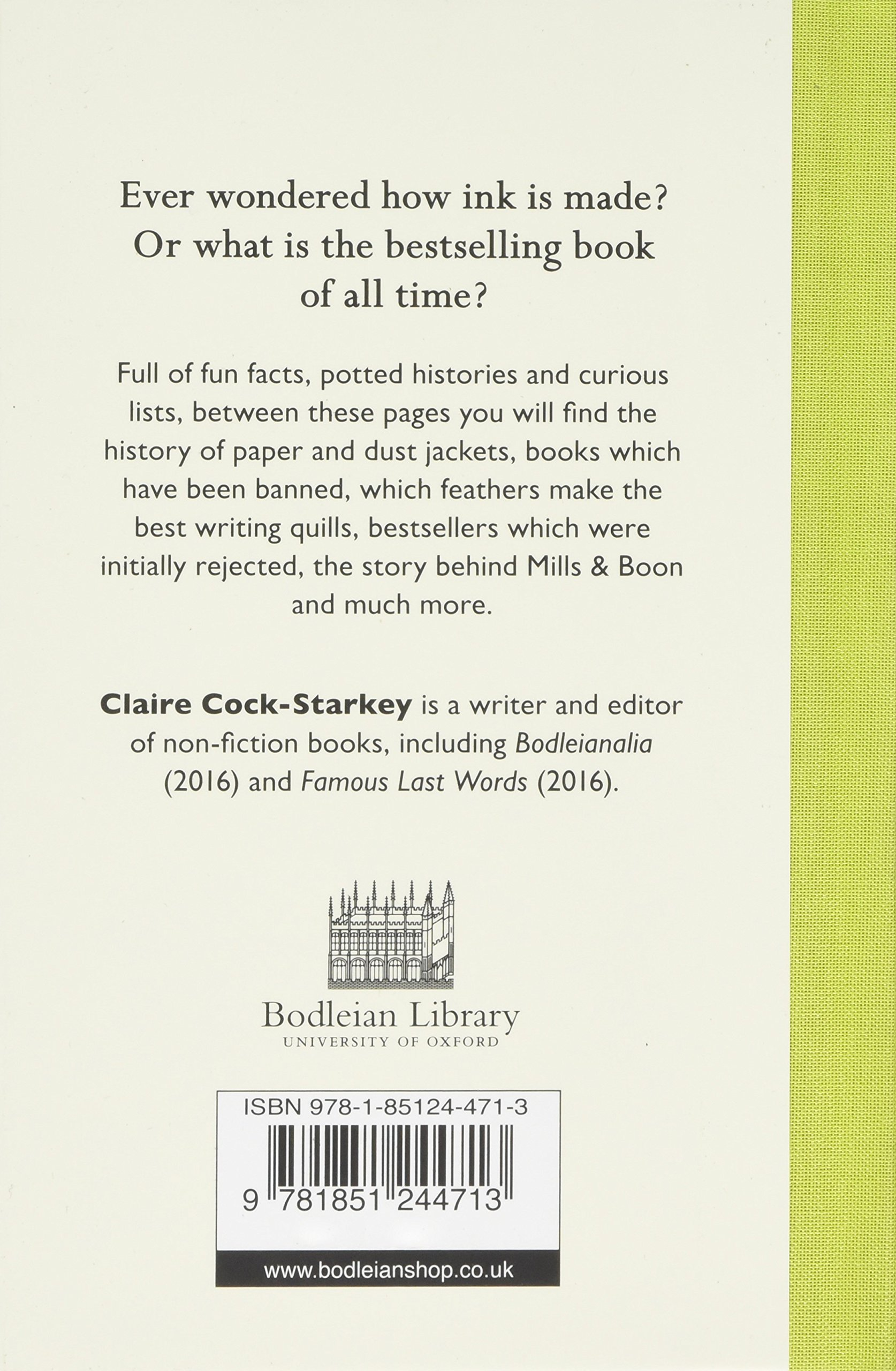 The Book Lovers' Miscellany: Amazon co uk: Claire Cock