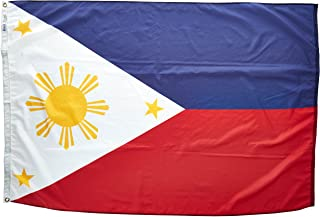product image for Annin Flagmakers Model 196757 Philippines Flag Nylon SolarGuard NYL-Glo, 4x6 ft, 100% Made in USA to Official United Nations Design Specifications