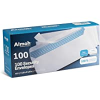 #10 Security SELF-Seal Envelopes, No Window, Premium Security Tint Pattern, Ideal for Home Office Secure Mailing, Quick…