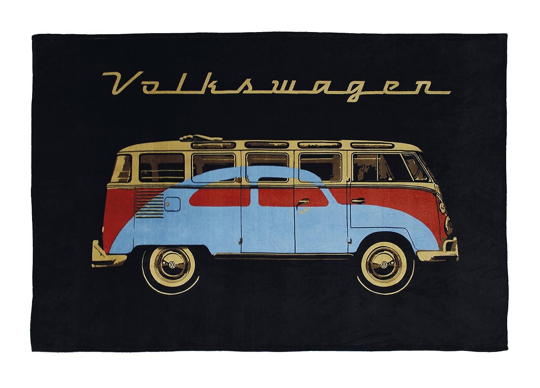 BRISA VW Collection VW T1 Combi Couverture en Laine Polaire 150x200cm Parade//Bleu
