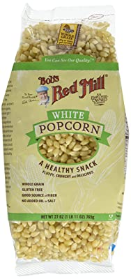 Bob's Red Mill White Corn Popcorn, 27 Ounce (Pack of 4) (Packaging May Vary)