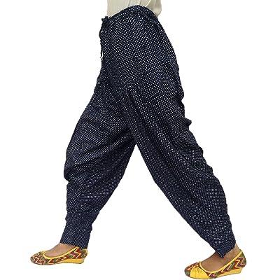 Élégant Dot Imprimé Élastique Taille Chaîne Ajustable Rayonne Pyjama Pantalon
