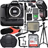 Canon EOS 80D DSLR Camera Body Only Kit with Pro Photo & Video Accessories Including 128GB Memory, Speedlight TTL Flash…
