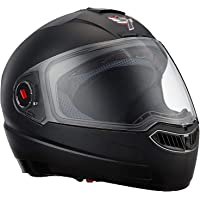 Steelbird SBA-1 Classic 7WINGS Full Face Helmet with Plain Visor (Medium 580 MM, Black)