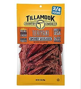 Tillamook Country Smoker Real Hardwood Smoked Sausages, Teriyaki, 12 Ounce