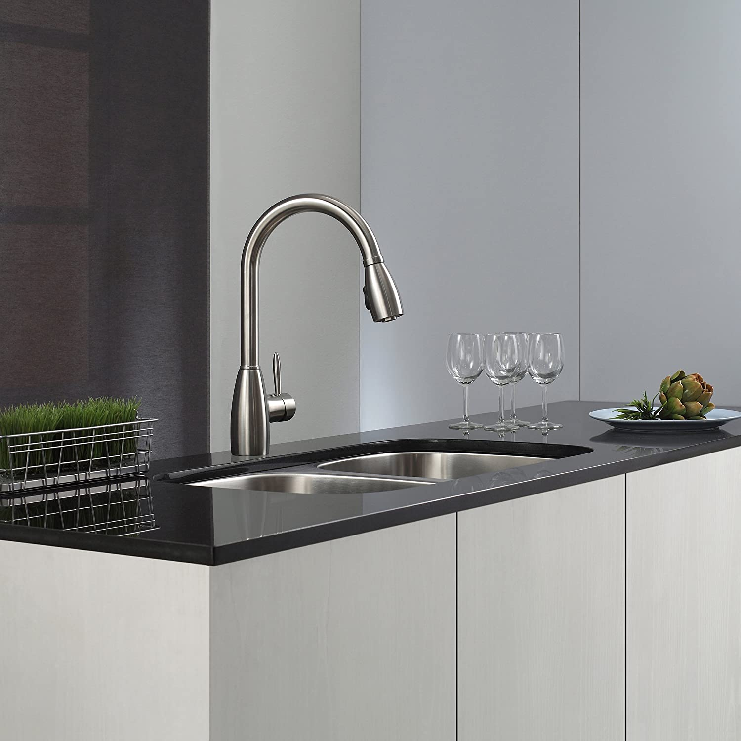drainer removable zeroz soap kitchen brushed pin sink steel with blanco including dispenser s faucet tap alno finish and matching in culina mini a wave
