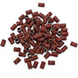 100PCS Embouts Ponceuse Emeri Faux Ongle Manucure Kit Sanding Nail Drill 80#