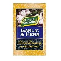 4 Pack Good Seasons Garlic & Herb Salad Dressing & Recipe Mix, 0.75 Oz (Envelope)