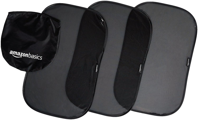 3-Pack Basics Car Window Stick-On Sun Shade for Side Windows