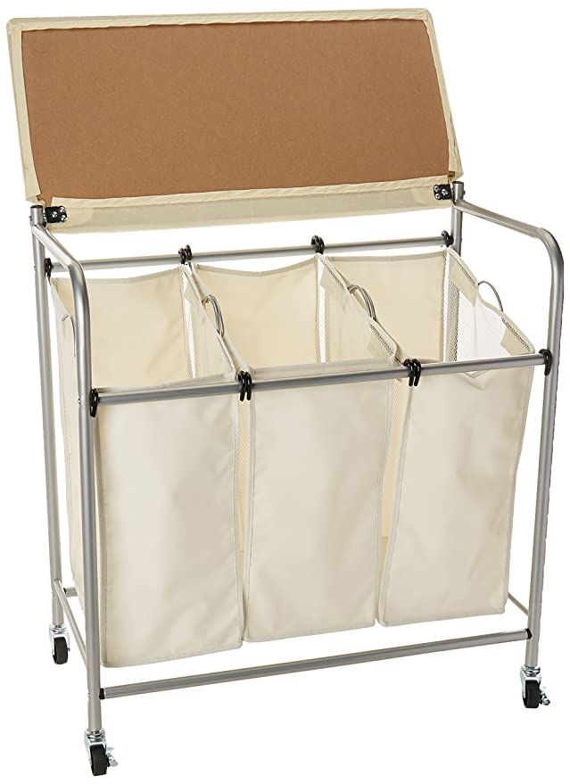 New Amazon.com: Honey-Can-Do Rolling Laundry Sorter with Ironing Board  NJ01