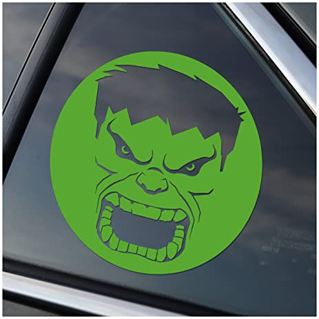 Amazoncom Incredible Hulk Marvel Inspired GREEN Vinyl Decal - Cool custom vinyl decals for carsamazoncom hulk vinyl decal sticker automotive