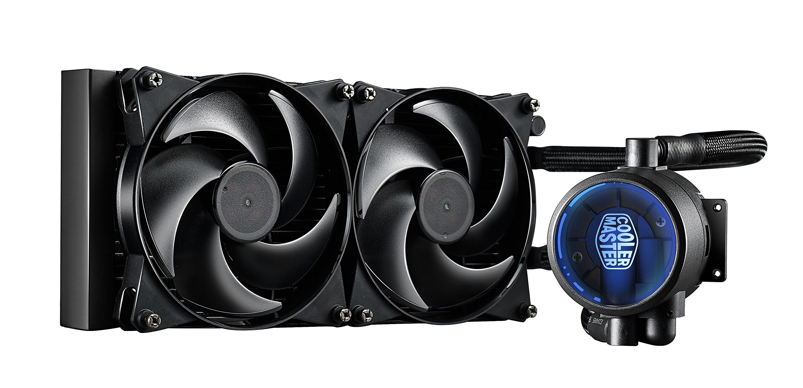 Cooler Master MasterLiquid Pro 280 CPU Cooler, All-In-One Liquid Cooler with FlowOp Technology, Dual Chamber Design, 140mm x 2 MasterFan Pro Fans by Cooler Master