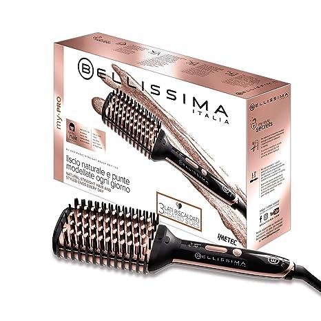 Imetec Bellissima My Pro Magic Straight Brush PB11 100 - Cepillo eléctrico alisador elegido, 3 lados externos calefactores, tecnología de iones, ...