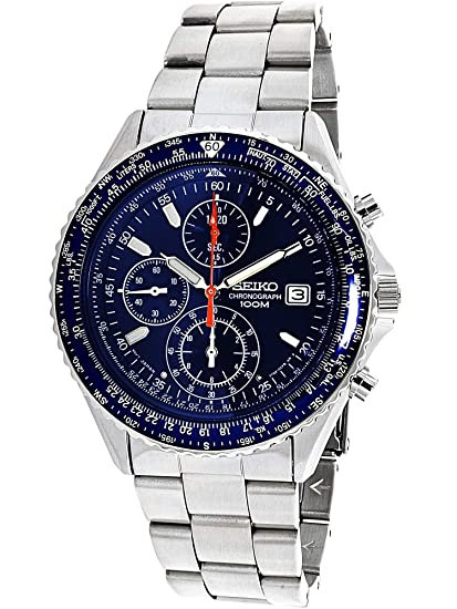 6b9bec3b5e7800 Image Unavailable. Image not available for. Color  Seiko Men s SND255P1 Flightmaster  Pilot Slide Rule Chronograph Watch