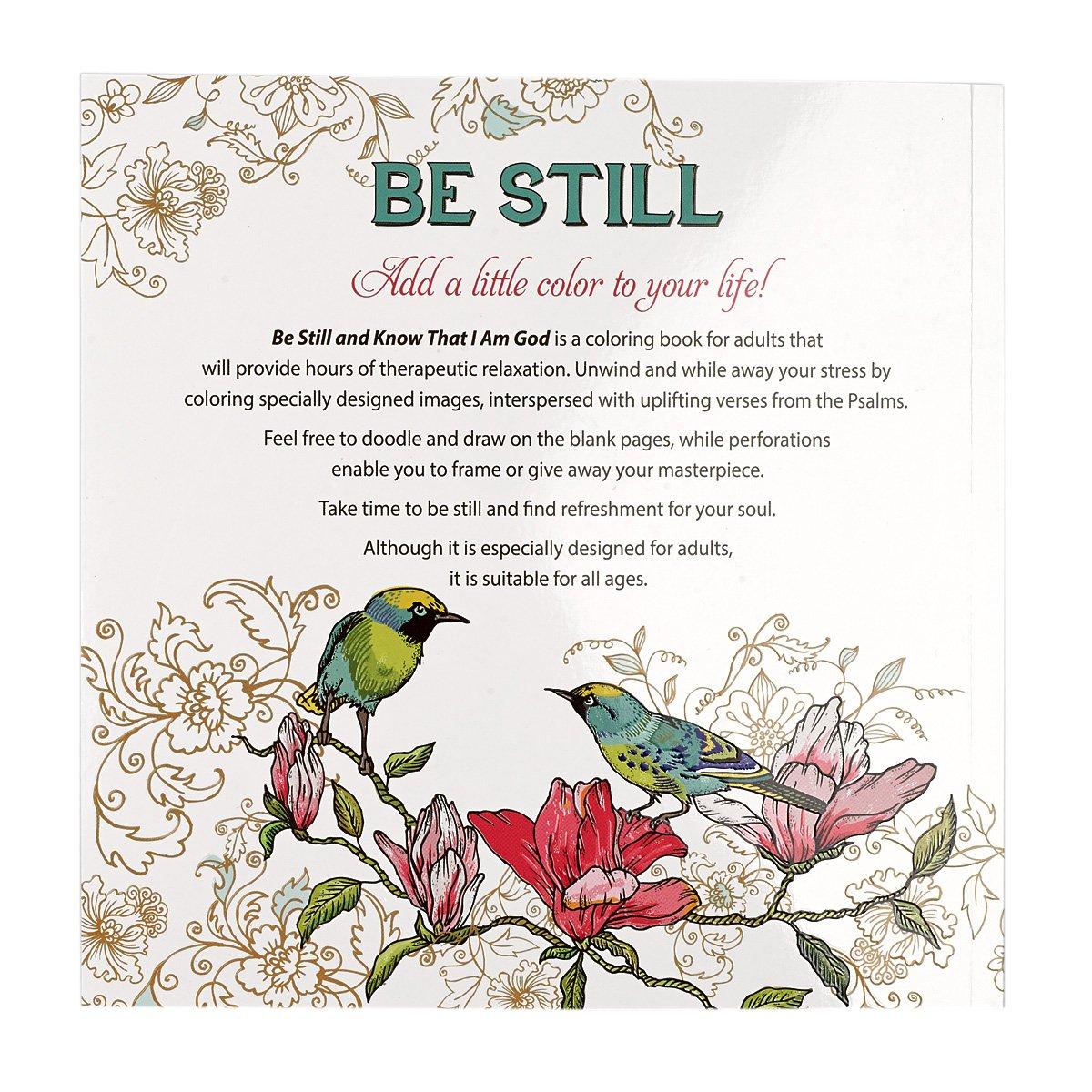 amazon com u0026 34 be still u0026 34 inspirational coloring