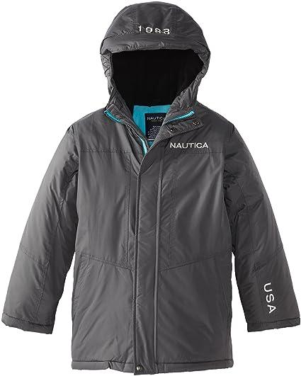 07f0e5e73 Amazon.com  Nautica Big Boys  Logo Snorkel Coat  Outerwear Jackets ...