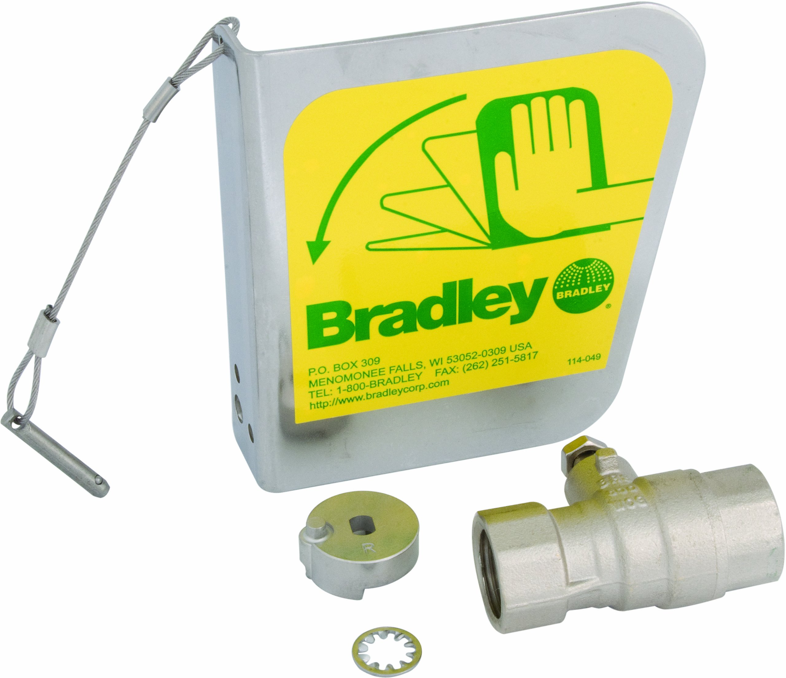 Bradley S30-072 2 Piece Ball Valve Dust Cover Handle Set