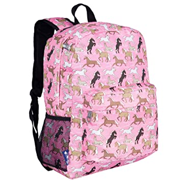 Wildkin Childrens Backpack with Front Pocket - Pink Horses Mochila Infantil, 41 cm, 3.5