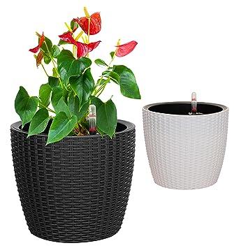 Amazon Com Tabor Tools 11 Self Watering Planter Modern Decorative