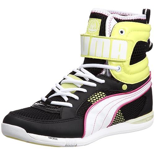 Puma - Allegra Mid Zapatilla/Zapato para Mujer Estilo con Cordones, Talla 5.5 UK, Color Negro: Amazon.es: Zapatos y complementos