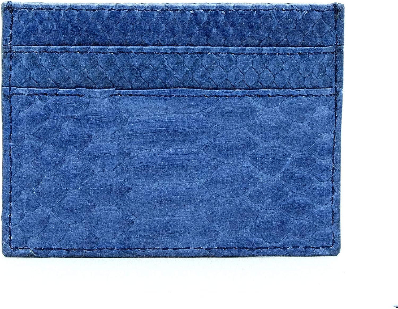 leather card holder minimalist wallet slim card case Green motif python card holder namecard holder 5 slot card holder