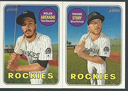 b1fd60638 Image Unavailable. Image not available for. Color  2018 Topps Heritage  Colorado Rockies Base Team Set 17 Cards Nolan Arenado