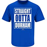 Smack Apparel Duke Basketball Fans. Straight Outta Durham Royal Blue T Shirt (Sm-