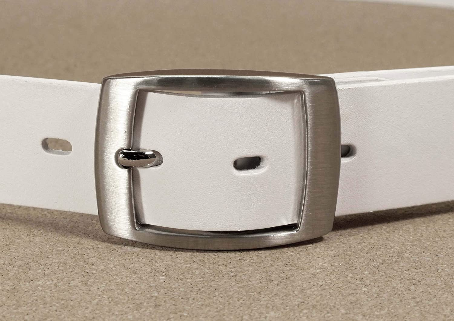 Mens Real Genuine Leather Belt Black Brown White 1.25 Wide S-XL Casual Jeans CU7