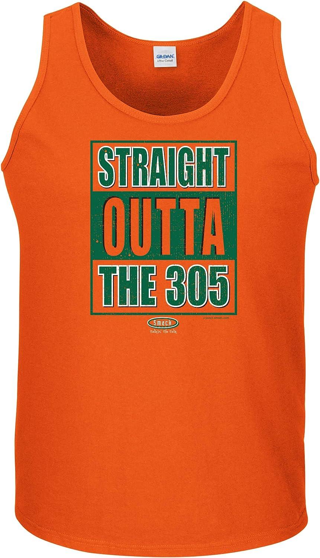 Sm-5X Orange T Shirt Smack Apparel Miami College Football Fans Straight Outta The 305