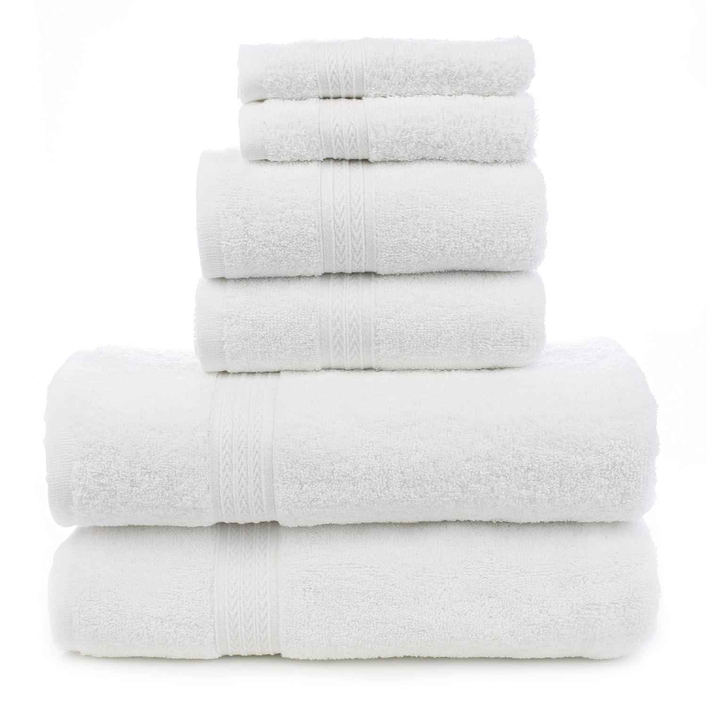 cotton hand towels for bathroom. amazon.com: soft touch linen terry cloth towel set, 2 bath towels, hand washcloths, white: home \u0026 kitchen cotton towels for bathroom