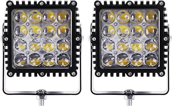 1X 72W LED Work Flood Square Spot Light 12V For Off Road Truck Boat SUV Fog Lamp