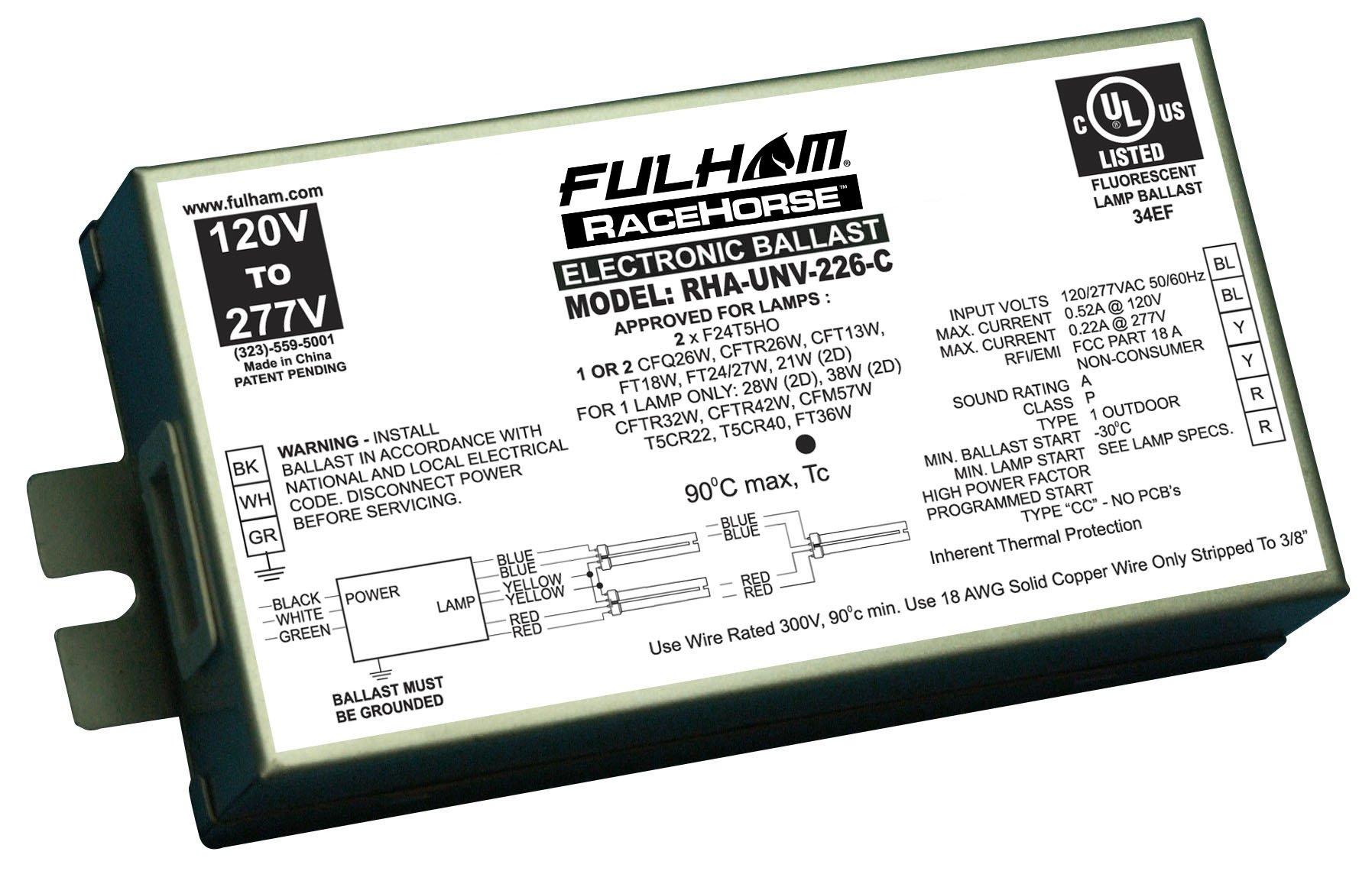 Fulham RHA-UNV-226-C RaceHorse CFL Ballast