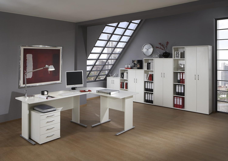 Büroeinrichtung Büromöbel Büromöbel Büromöbel Büro Weiß Eckschreibtisch Bürocontainer Aktenschrank Regal Schreibtisch (Aktenschrank Weiß 5 OH) 425e7e