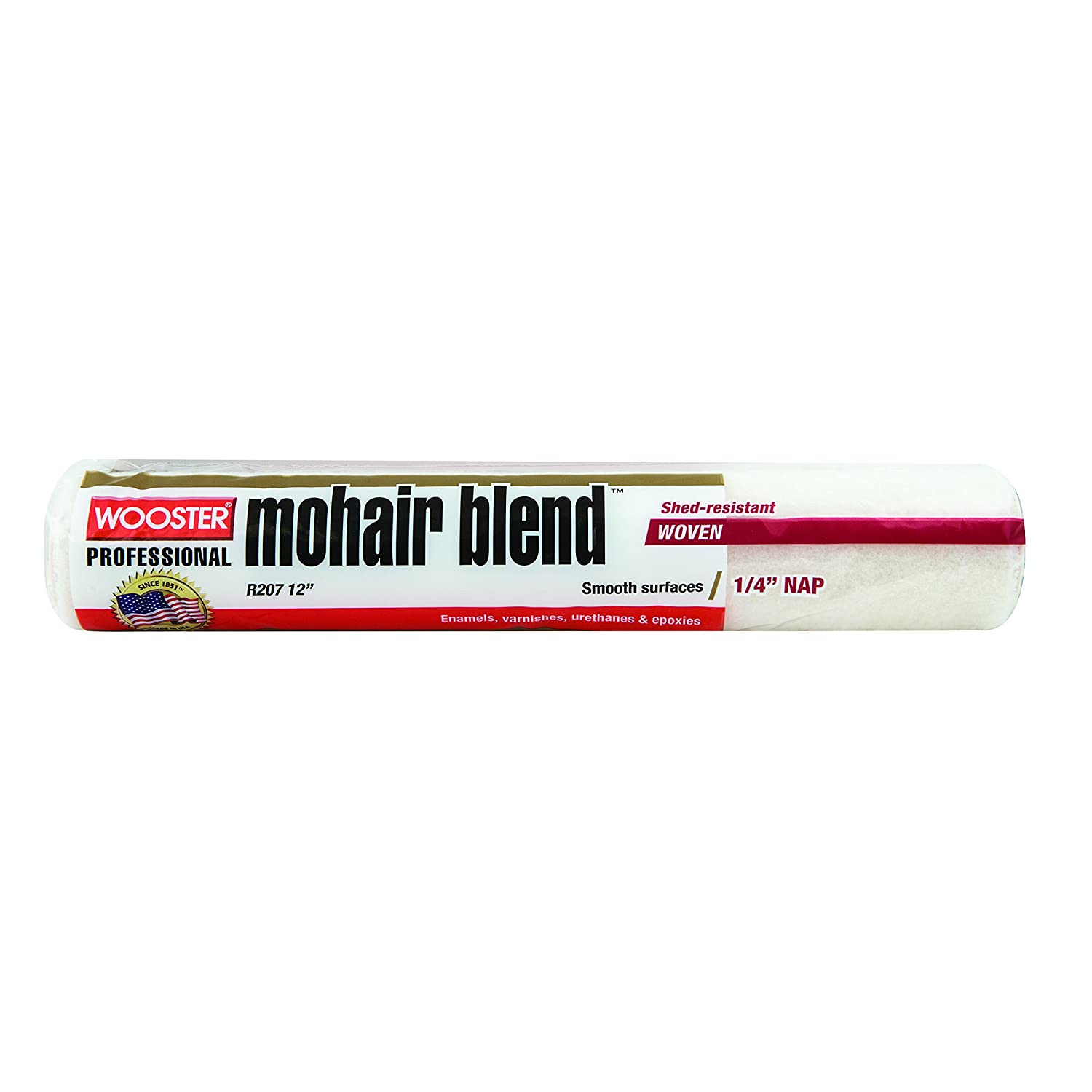 Wooster Brush R207-4 Mohair Blend Roller Cover 1/4-Inch Nap, 4-Inch