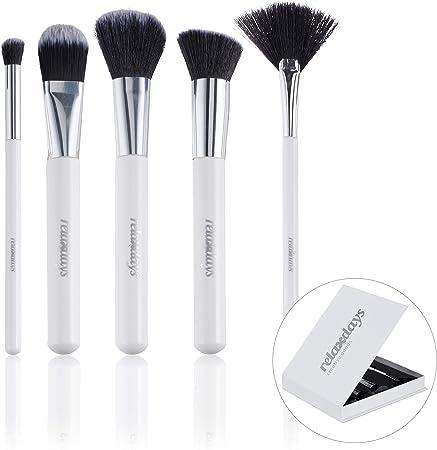 Relaxdays Set de brochas para Maquillaje, PP, cartón, gomaespuma, Blanco, 1 Pack: Amazon.es: Hogar