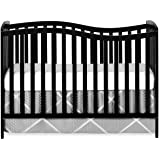 Dream On Me Chelsea 5-in-1 Convertible Crib Black, 37 Pound