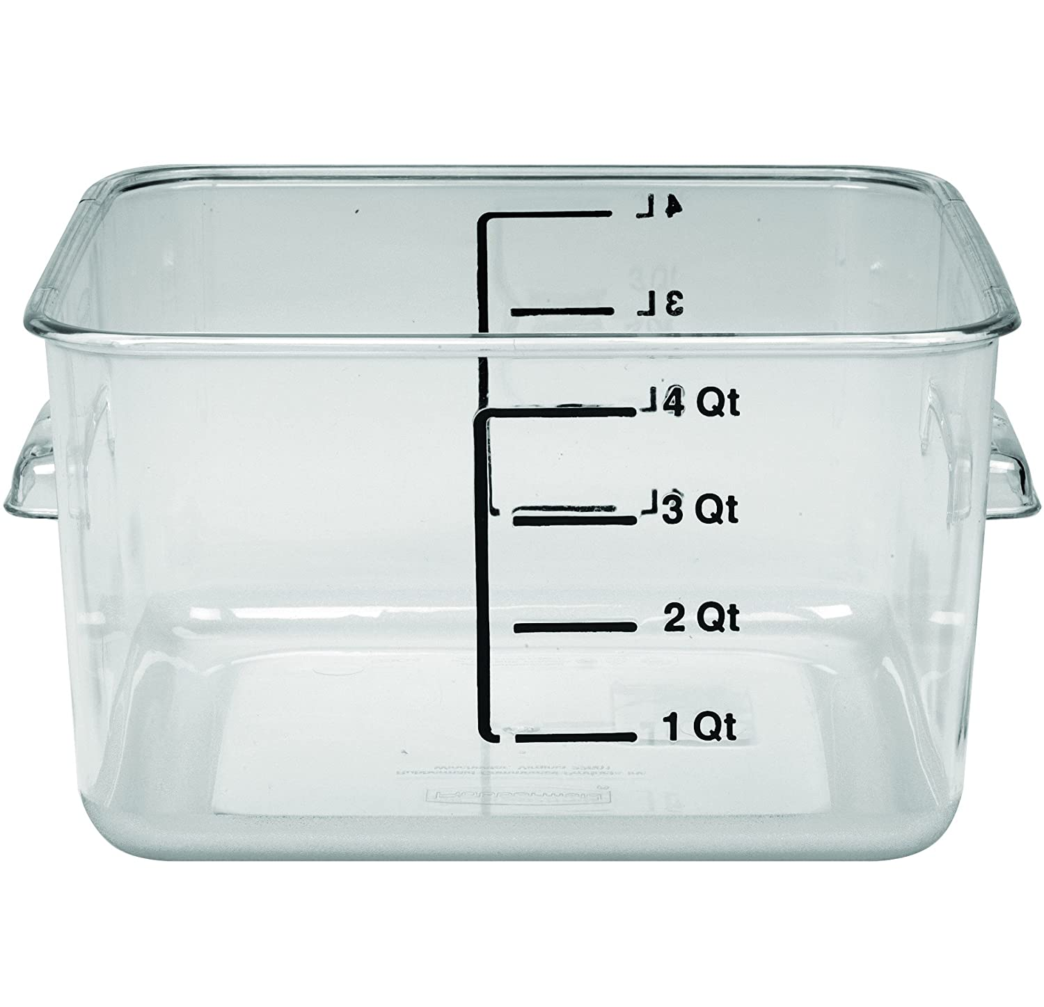 Rubbermaid Commercial FG630400CLR Polycarbonate 1 Gallon Space Saving Storage Container, Clear