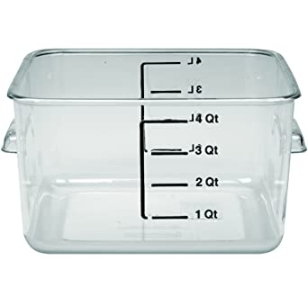 Merveilleux Rubbermaid Commercial FG630400CLR Polycarbonate 1 Gallon Space Saving Storage  Container, Clear