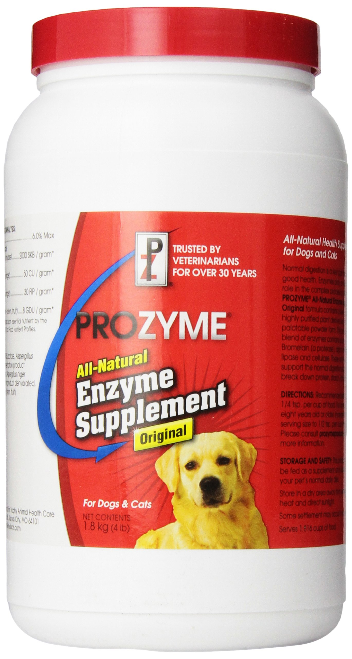 Lambert Kay Prozyme Original All-Natural Enzyme Supplement for Dog and Cats, 4-Pound