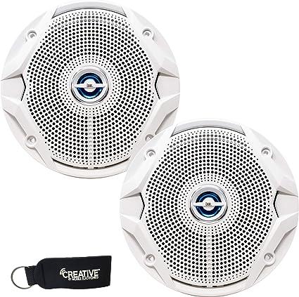 "JBL MS6520 180 Watt MS 6.5/"" 2-Way Coaxial Marine Audio Speakers 6-1//2/"" White"