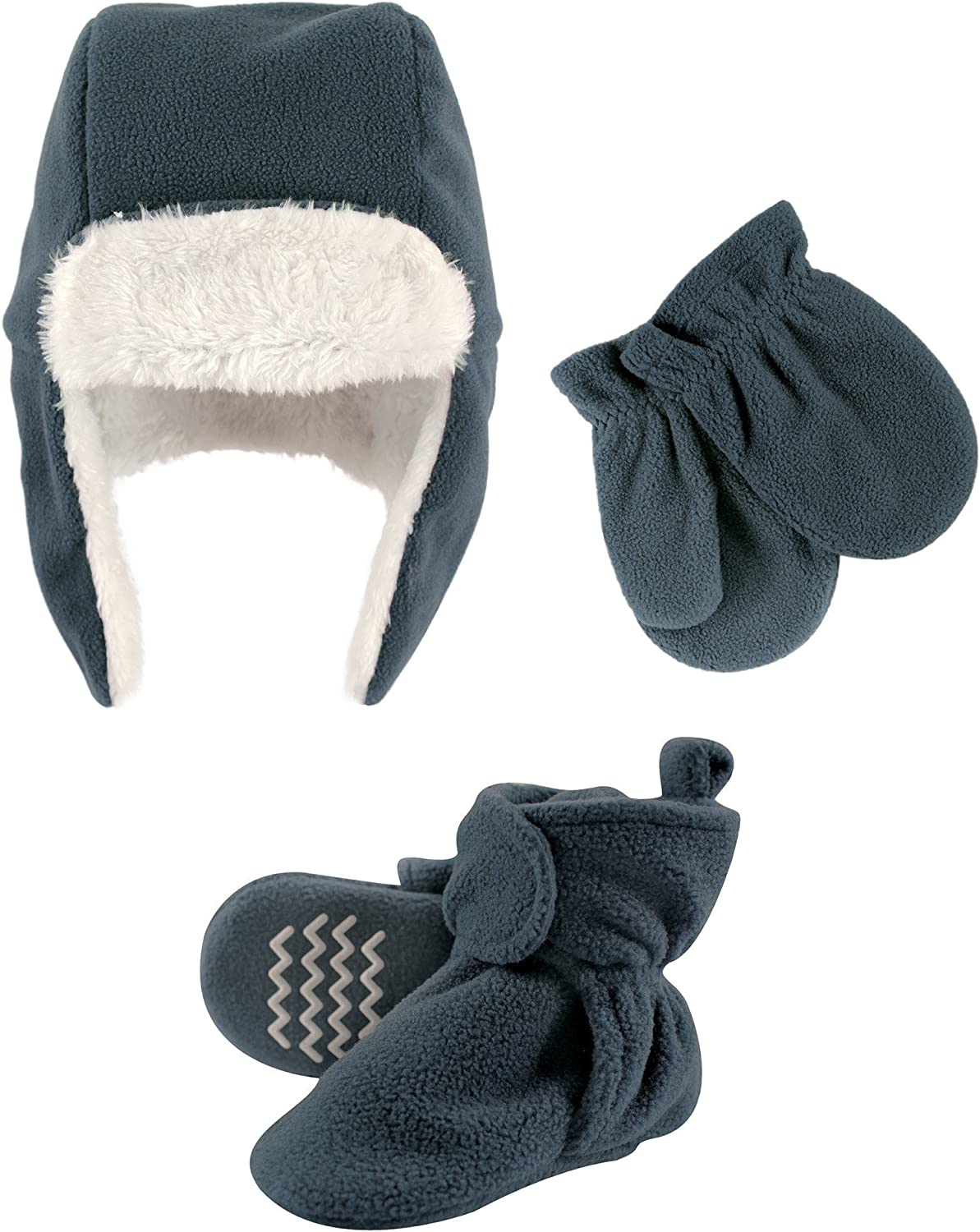 Hudson Baby Winter Hat Mittens and Booties Set