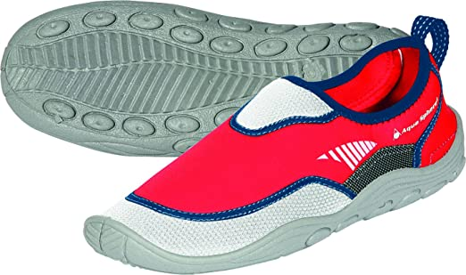 Aqua Sphere BEACHWALKER RS neopreno agua/calzado de playa, Unisex, Beachwalker RS, blanco y rojo, 45